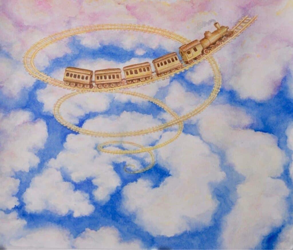 Spiral Train in the Clouds