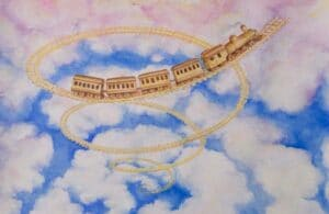 Spiral Train on the Clouds